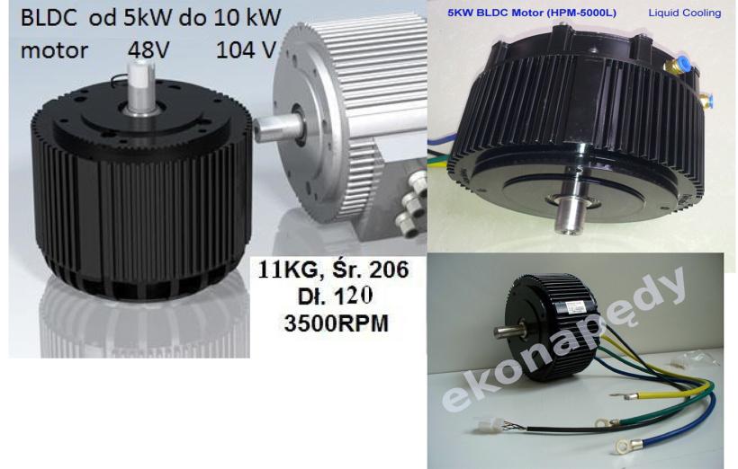 BLDCH 8,6kW/72V
