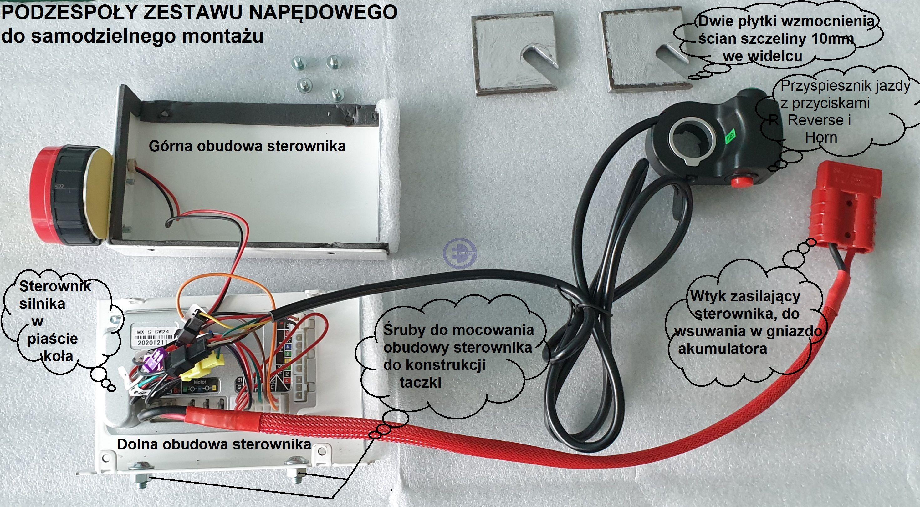 Taczka elektryczna - Zestaw 2b do samodzielnego montażu